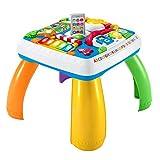 Fisher-Price DRH31 Lernspaß Spieltisch Lernspielzeug mit Lichtern Sätzen und Liedern mit mitwachsenden Spielstufen, ab 6 Monaten deutschsprachig