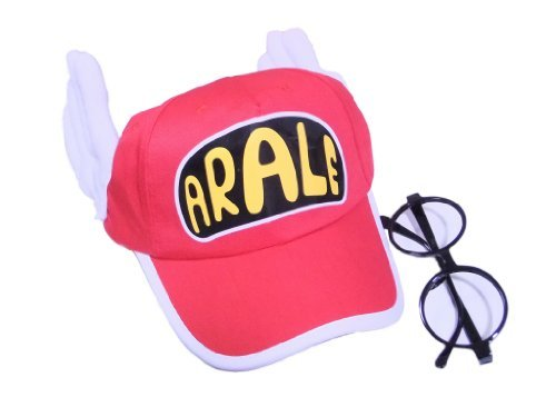 Cosplay accessory Arale wind hat + glasses red cap adult version cosplay tool (japan import) (Kostüm Cosplay Arale)