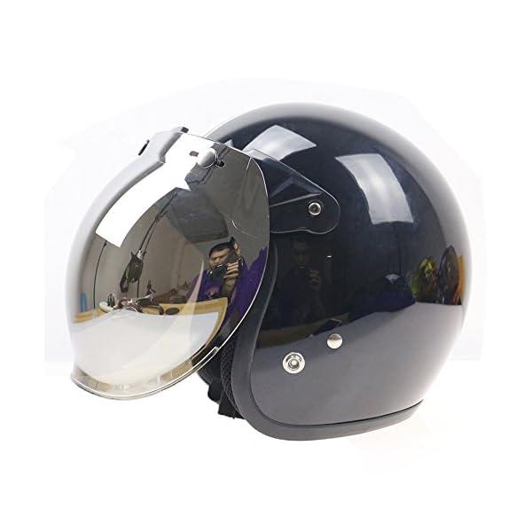 8ef628187b14d Cascos de cara abierta para motocicleta diseño antiguo