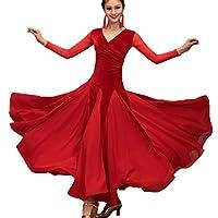 2ca61c0915fc36 WQWLF National Standard Ballsaal Tanz Outfit Für Frauen Leistung/Wettbewerb  Tango Walzer Moderne Tanzkleider Samt