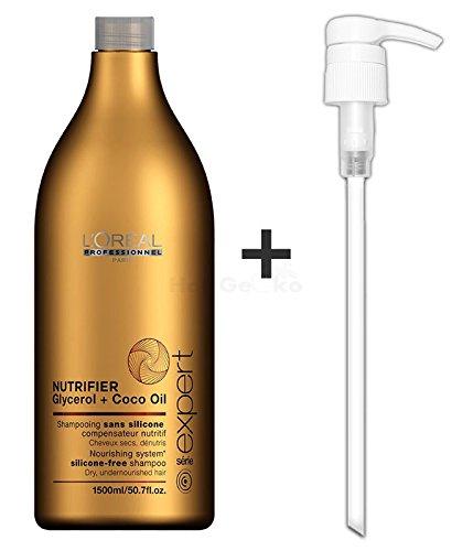 Loreal Serie Expert Nutrifier Glycerol & Coco Oil Shampoo 1500ml + Pumpe