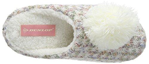Dunlop Damen Adeline Hausschuhe Off White (Natural)