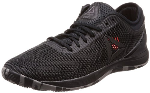 Reebok R Crossfit Nano 8.0, Scarpe da Fitness Uomo, Nero Black/Shark/Atomic Red, 43 EU
