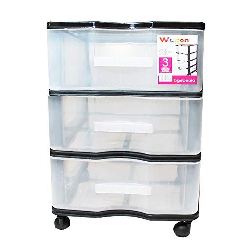 DIN A4//C4 y formatos mayores, 5 cajones cerrados HAN 1450 SYSTEMBOX- Cajonera para documentos color azul transl/úcido
