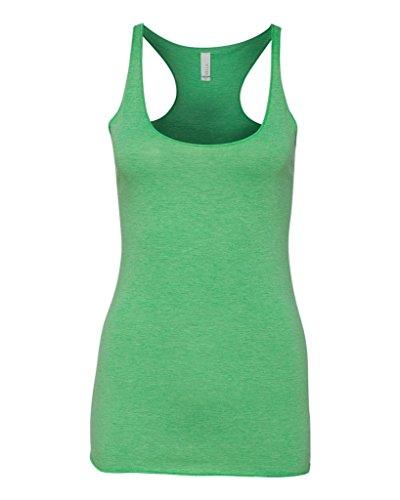 Bella - T-shirt de sport - Asymétrique - Femme vert - Green Triblend