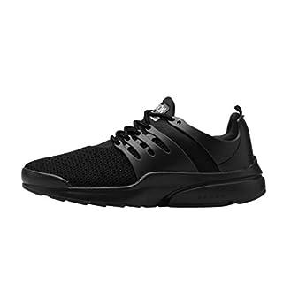 Challeng Laufschuhe Promotionen Herren Outdoor Fitnessschuhe Casual Mesh Atmungsaktiv Schuhe Schnürschuhe Laufschuhe Joggingschuhe,Freizeitschuhe Herren (EU:42.5, Schwarz)