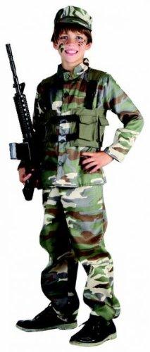 Generique - Soldaten-Kostüm für Jungen grün-braun-beige 122/134 (7-9 Jahre)