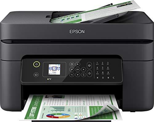 Epson Workforce WF-2830DWF Imprimante Multifonction 4 en 1 Jet d'encre (Impression, numérisation, Copie, télécopie, ADF, WiFi, Duplex, Cartouches Individuelles, DIN A4) Noir