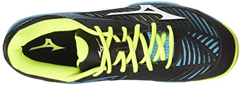 Mizuno Wave Exceed Tour AC, Chaussures de Tennis Homme Multicolore (Blueatollwhiteblack)