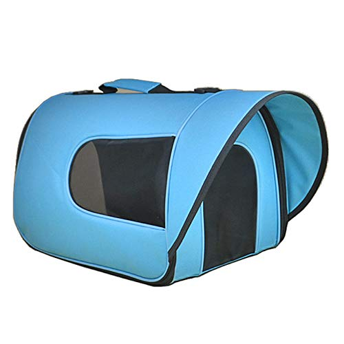 Pets Out Tragbare Hundetasche Cat Packs Visier Atmungsaktive Pet Fashion Schultertasche Handtasche Rucksack Teddy Pet Dog Bag @ Sky_Blue_S
