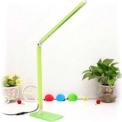 Elinkume lampada da tavolo a led dimmerabile lampada da scrivania lampada lettura moderna a intensità variabile, 48led con luminosità regolabile, 7w adatto per studio, scrivania, camera da letto ecc,verde