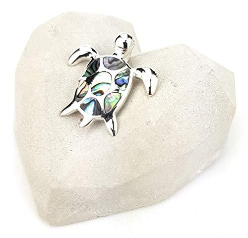 Monkimau 925 Silber Schildkröte-n Ketten-Anhänger für Armband oder Kette Charm-s Damen Frauen Mädchen Schmuck Geschenk-e (Anhänger blau grün)