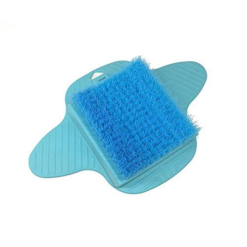 ZXLIFE Fußbürsten Massagen Pedicure Tools Scrub Brushes Peeling Wasserbäder Entfernen Abgestorbene Haut Fußpflege Werkzeuge Suspension Saugnäpfe 2-Color, Blue (Scrubs Blau-peeling)