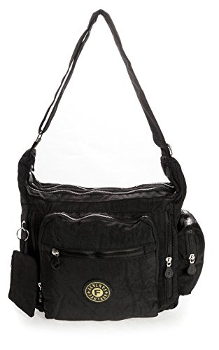 Big Handbag Shop, Borsa a tracolla donna One Nero (nero)