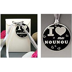 Boite de Chocolat I ♥ ma Nounou - Cadeau Baptême, Noël...