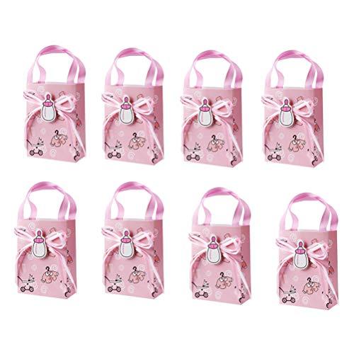 üten mit Griffen, kleine Geschenktüten Baby Shower Candy Bags 12 Stück ()