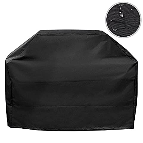 BBQ grill cover BBQ cover hood Protective cover Gas grill Weather protection cover Weather protection grill Cover polyester fabric valid 170 * 61 * 117 cm - Black