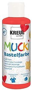 Mucki 24105-Pintura acrílica (80ML, Rosa, Rojo