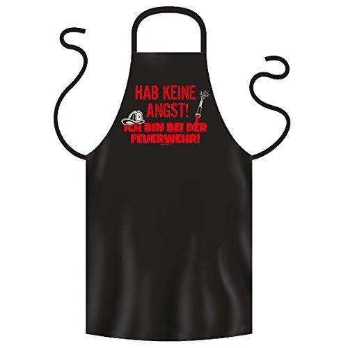 Grill und Kochschürze mit Feuerwehrmotiv - Hab keine Angst! ich bin bei der Feuerwehr! - Top Geschenk!