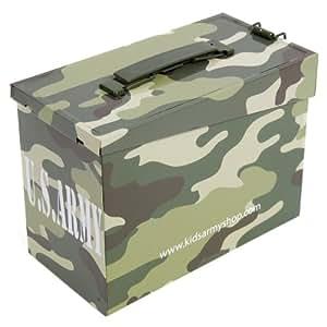 KAS Exclusive Boîte en métal Motif camouflage/armée américaine