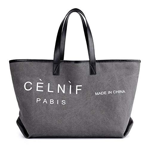 WWAVE Handtaschen für Damen Canvas Frau Tasche Brief Casual Tote Mode große Kapazität Umhängetasche s Tasche -