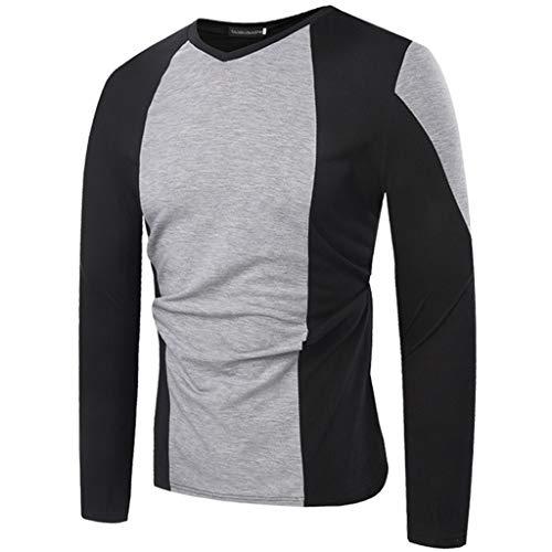 Uomo basic maglione uomo manica lunga moda fori girocollo t shirt manica lunga uomo magliette manica lunga uomo tinta unita maglietta t-shirt qinsling