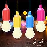 vitutech Lampade LED Lamp, Lampada LED da Campeggio, Portable LED Light Lanterna Lampada per Escursionismo, Pesca, Campeggio, Tenda, Festa, Guardaroba, da Esterno o da Interno (4 Lampadine)