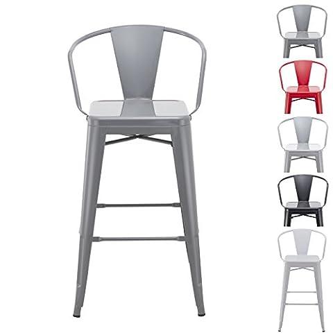 Tabouret de bar industriel en metal gris Duhome TYPE 9-634 chaise de bar VINTAGE STYLE