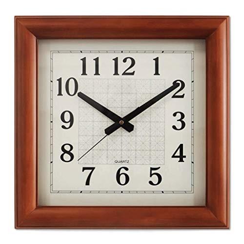 JYT-GZ Hauptdekoration kreative Persönlichkeit Wanduhr JY Quadratische Form Kreative Holz Wohnzimmer Quarz Uhr Stumm Uhr, Mode Wohnaccessoires (Sammeln, Uhren Zu Sie Wie)