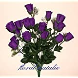 18 Roselline Viola di Cadbury Artificiali Moderne Ideali per Matrimonio