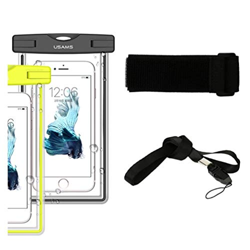 DFV mobile - Armband Protective Beach Case Underwater Waterproof Bag for => ZTE Supreme, Virgin Mobile Supreme > Black
