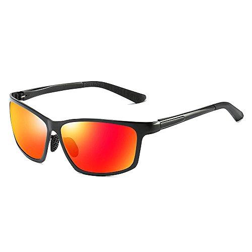 VeBrellen Herren Polarisierte Sonnenbrillen Für Autofahren Damen Brillen 100% Polarisierter UV-Schutz VS012 - Black Frame Red Lens