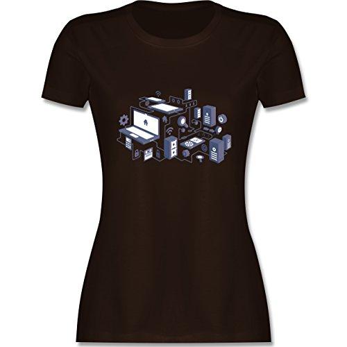 Nerds & Geeks - Netzwerk Design - tailliertes Premium T-Shirt mit  Rundhalsausschnitt für Damen