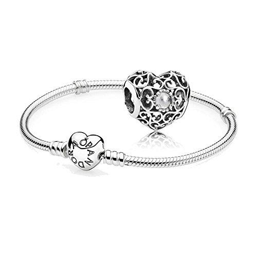 Original-Pandora-Geschenkset-1-Silber-Armband-mit-Herz-Schliee-590719-und-1-Silber-Charm-April-Herz-791784RC
