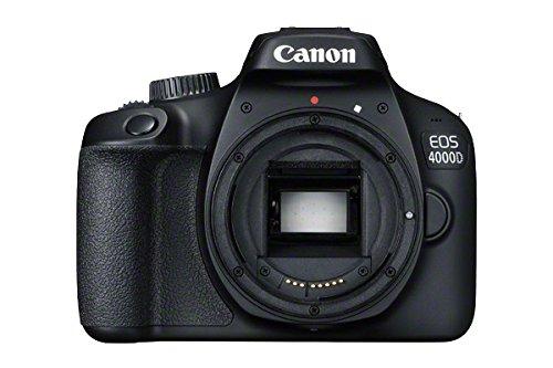 Canon EOS 4000D + 18-55 DC + 75-300 DC Corpo della fotocamera SLR 18 MP 5184 x 3456 Pixel Nero