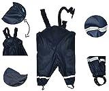 Unbekannt Matschhose / Regenhose - Gr. 122 - 128 - für Kinder von 6 Jahre bis 7 Jahre - gefüttert mit 100 % Baumwolle - dunkelblau für Kind - Regenhosen - Matschhosen R..