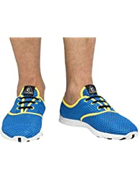 Cressi Aqua Shoes Zapatos Deportivo para Uso Acuático, Unisex Adulto, Azul Claro/Amarillo, 42