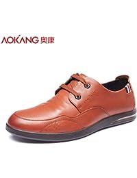 Aemember Scarpe Uomo Autunno selvatico scarpe tempo libero gli uomini sono la punta dell'attuale Business Scarpe e,38, nero
