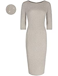 Pretty Kitty Fashion Gold Bodycon Glitz Wiggle Dress