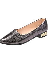 Kinlene Sandalias Zapatillas Zapatos de tacón Mujeres Damas Moda Mocasines Casual Pisos Zapatos Solos Sandalias