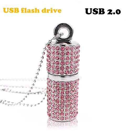 USB Flash Drive Pen Drive U Disk USB 2.0-Laufwerk Diamant-Kristall-Speicher Halskette-Stick