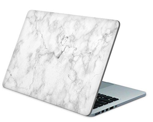 """Skins4u Laptop Aufkleber Universal Skin Netbook Sticker für bis zu 15,6"""" Displays in 38,1x26,7cm - Marmor Weiss"""