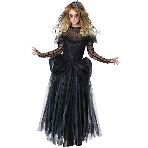 (CWZJ Halloween Fancy Ghost Brautkleid Set Zombie Leiche Braut Kostüm Erwachsenen Kostüm Fantasia Party Cosplay Womenswear)