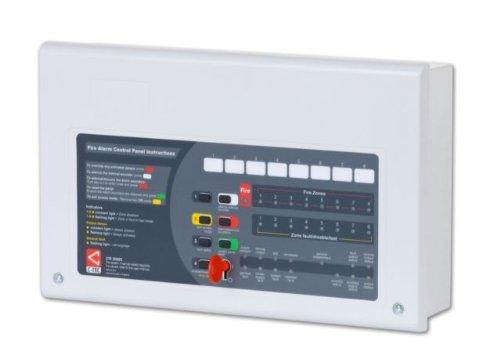TC443 - C-TEC CFP708-2 ALARM 8 ZONE 2 WIRE CONVENTIONAL FIRE ALARM CONTROL PANEL by C-Tec 2 Zone Fire Panel