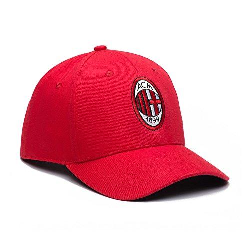 AC Mailand verstellbar Snapback Team Farbe gebogen Bill Fußball Hat, FIL90136, rot, - Ac Milan-bekleidung