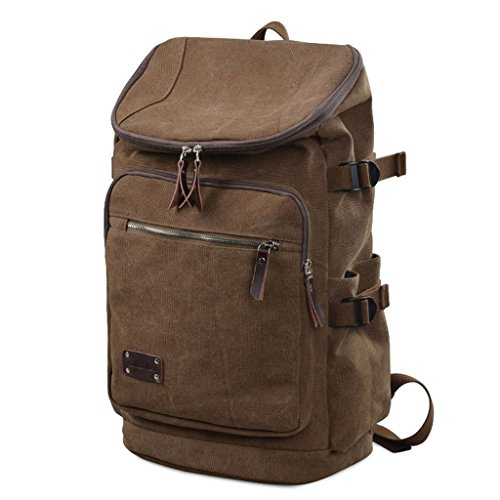 SINCERE@ sac à bandoulière rétro mode coréenne occasionnels à double sac à bandoulière homme sac tendance Cartable sacs (Couleur Café) SEC BAG