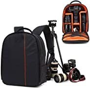 USPECH Shoulder Backpack to Carry DSLR SLR Lens Camera Bag  (Blue, Black)