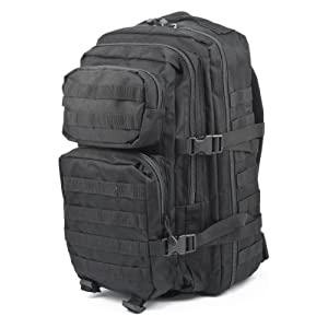 41WONpEeAdL. SS300  - Ora-Tec US assault rucksack, 50 litres, black 50L