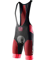 X-BIONIC - Effektor Biking Power Bib Short Tight, color rojo,negro, talla L