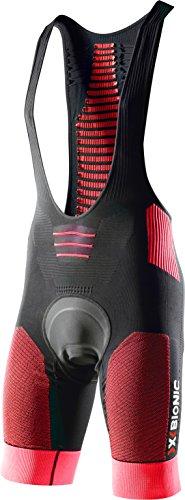 X-Bionic Biking Effektor Power Ow Bib Endurance Pantalone Bicicletta, Uomo, Nero/Rosso, M